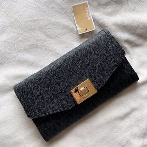 Michael Kors Callie Trifold Black Wallet
